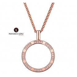 collar viceroy plaisir ip rosa circonitas