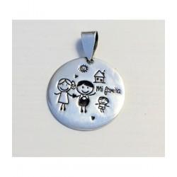Medalla Mi Familia Plata De...