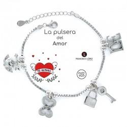 Pulsera Del Amor Plata 1...