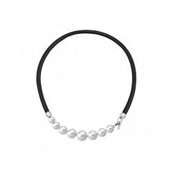 Collar Majorica cuero y perlas 15499.01.0.000.010.1