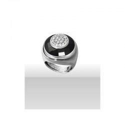 Sortija plata y cristal negro Viceroy Jewels 1066A015-95