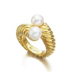 Anillo plata y perlas...