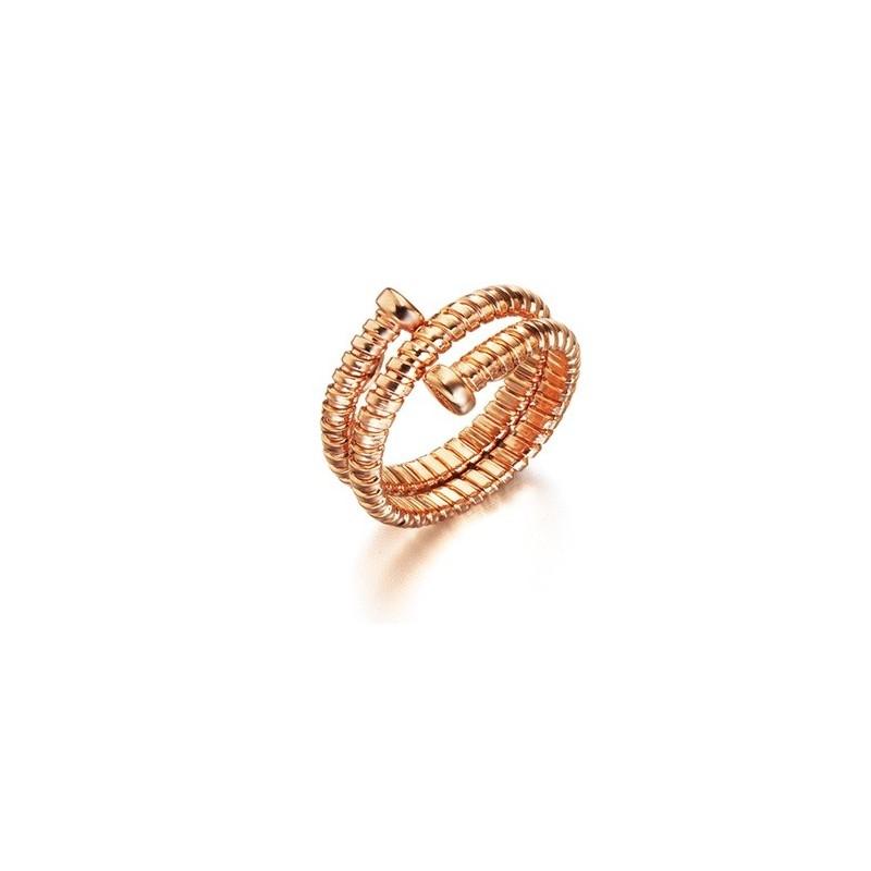 Tubogas Rose Gold Ring