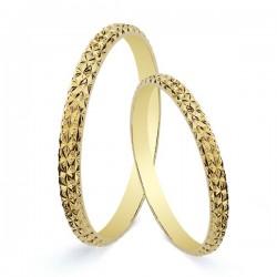 Anillo de boda en oro 9 kilates