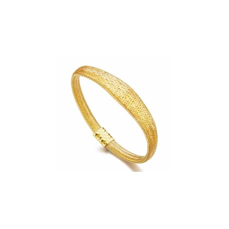 Pulsera LeCarré plata dorada malla LC035AM.00