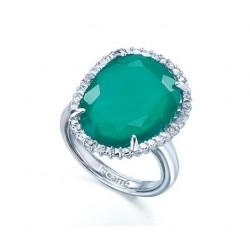 Anillo LeCarre plata diamantes y calcedonia LA040ES.00