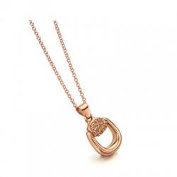 Collar LeCarre plata mujer rosado LD013RS.00