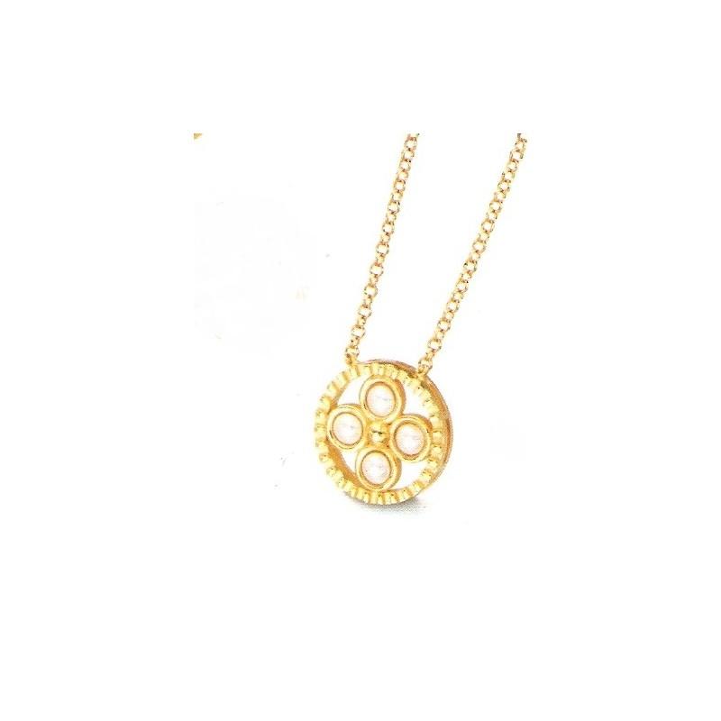 Collar LeCarre plata mujer dorado LD043AM.00