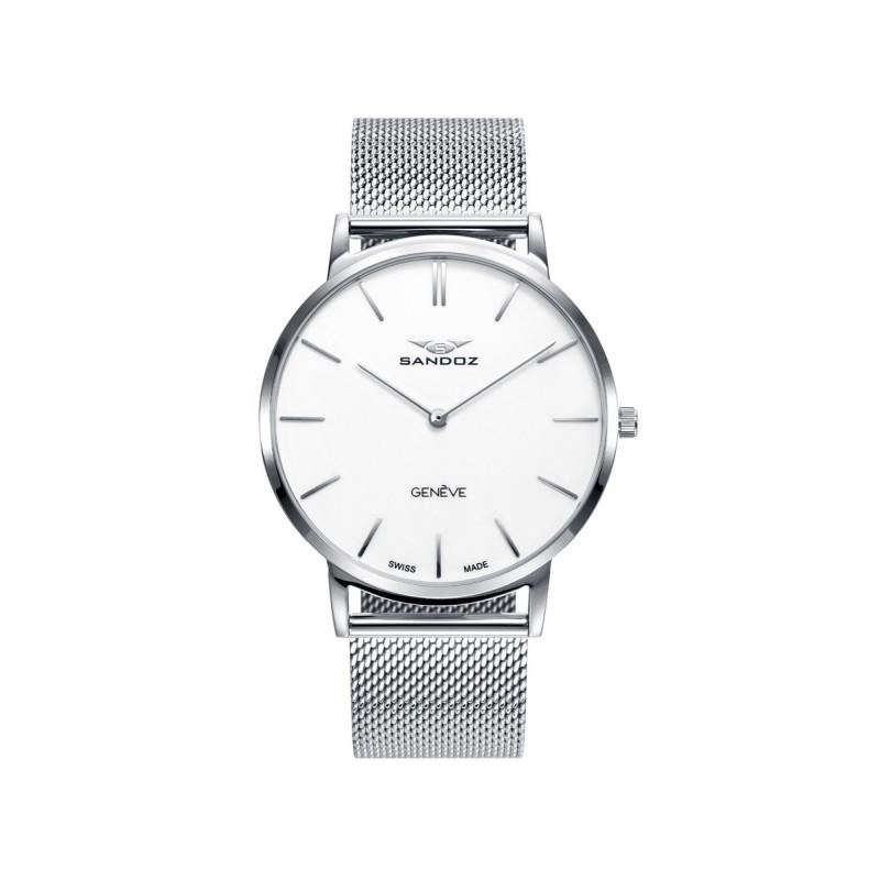 Reloj Sandoz hombre 81445-07 malla acero swiss made