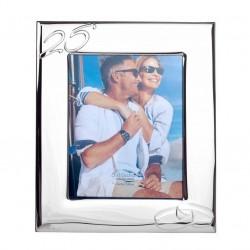 Marco fotos laminado en plata 25 Aniversario 20X25