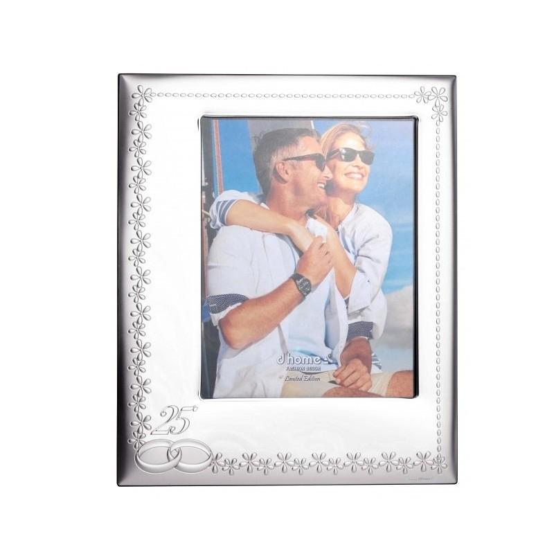 Marco fotos 25 Aniversario 20X25 laminado en plata